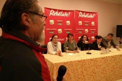 Acto con García Solano y Elena Cortés