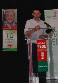 Mario Jiménez durante su intervención en el acto de campaña celebrado ayer