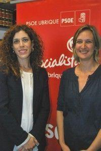 Miriam Alconchel, Delegada de Igualdad e Isabel Gómez, Secretaria PSOE Ubrique