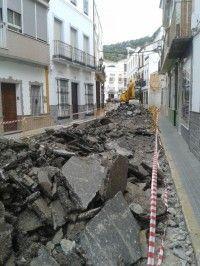 Obras en la calle San Sebastian