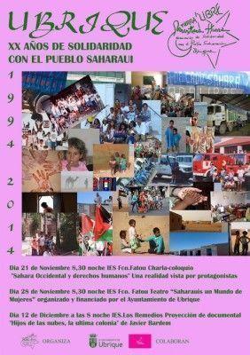 Cartel 20 Años de Solidaridad con el Pueblo Saharaui