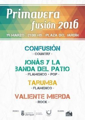 Cartel Primavera Fusión 2016 - Ubrique