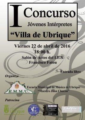Cartel Concurso de Jóvenes interpretes 2016